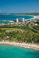 Aerial view of Luquillo beach area