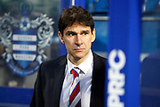 Middlesbrough FC Head Coach Aitor Karanka before the Sky Bet Championship match between Queens Park Rangers and Middlesbrough at the Loftus Road Stadium, London, England on 1 April 2016. Photo by Andy Walter.