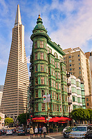Transamerica Pyramid & Columbus Tower (Flatiron Building)