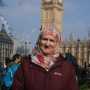 London,England,uk, 24th March 2017, Speaker Julie Siddiqi, Christian Muslim Forum vigil for the victims of the terror attacks at Westminster Abbey,London,UK. by See Li