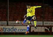 Aston Villa U21 midfielder Andrew Green (11) during the Barclays U21 Premier League match between U21 Brighton and Hove Albion and U21 Aston Villa at the Checkatrade.com Stadium, Crawley, England on 7 March 2016.