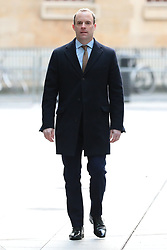 © Licensed to London News Pictures. 05/01/2020. London, UK. Foreign Secretary Dominic Raab arrives at BBC Broadcasting House to appear on the Andrew Marr Show. Photo credit: Rob Pinney/LNP