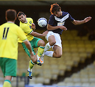 Picture by Paul Chesterton/Focus Images Ltd.  07904 640267.28/7/11 .Bilel Mohsni of Southend United and Bradley Johnson of Norwich City during a pre season friendly at Roots Hall Stadium, Southend...