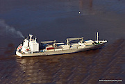 Aerial view of the South Hampton Star On the Delaware River, with no bunker barge.