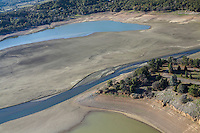 Lake Mendocino, Ukiah, California. Drought conditions, February 23rd, 2014.