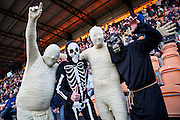 Exeter fans in Halloween fancy dress during the Sky Bet League 2 match between Barnet and Exeter City at Underhill Stadium, London, England on 31 October 2015. Photo by Bennett Dean.