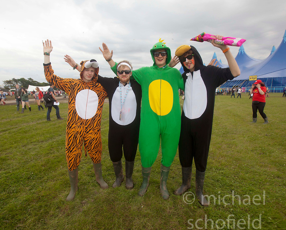 The Friday afternoon opening of  T in the Park 2012 music festival, held at Balado, in Fife, Scotland..