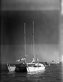 1959 - 40ft. ketch rigged catamaran, Rongo, entering Dun Laoghaire harbour