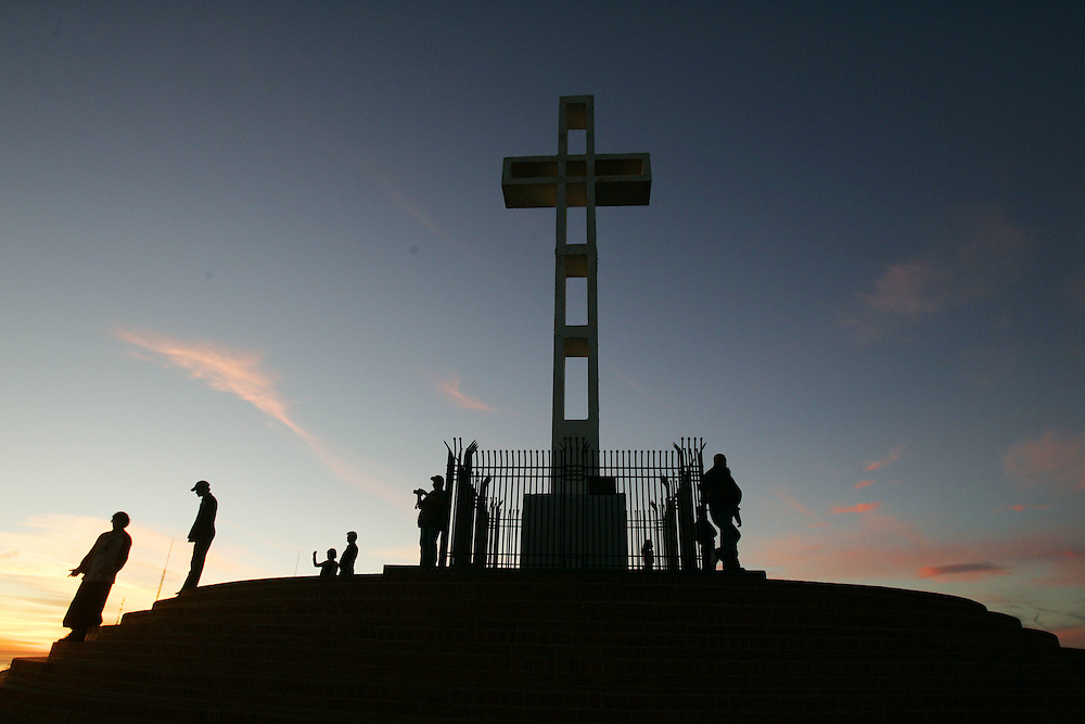 SAN DIEGO,CA- JANUARY 5: View of  the cross San Diego from atop Mt. Soledad on Thursday, January 5, 2006(Photo by Sandy Huffaker)