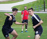 Dundee&rsquo;s James McPake watches the squad got throug their paces - Day 2 of Dundee FC pre-season training camp in Obertraun, Austria<br /> <br />  - &copy; David Young - www.davidyoungphoto.co.uk - email: davidyoungphoto@gmail.com