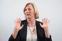 15 MAY 2013, BERLIN/GERMANY:<br /> Prof. Dr. Gesche Joost, Professorin an der Universitaet der Kuenste Berlin, Fachgebiet Designforschung, und Mitglied im Kompetenzteam von SPD Kanzlerkandidat P eer S teinbrueck,<br /> waehrend einem Interview, Willy-Brandt-Haus<br /> IMAGE: 20130515-01-007<br /> KEYWORDS: Wahlkampfteam