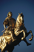 Dresden, East Germany. Frederick Augustus I bronze statue.