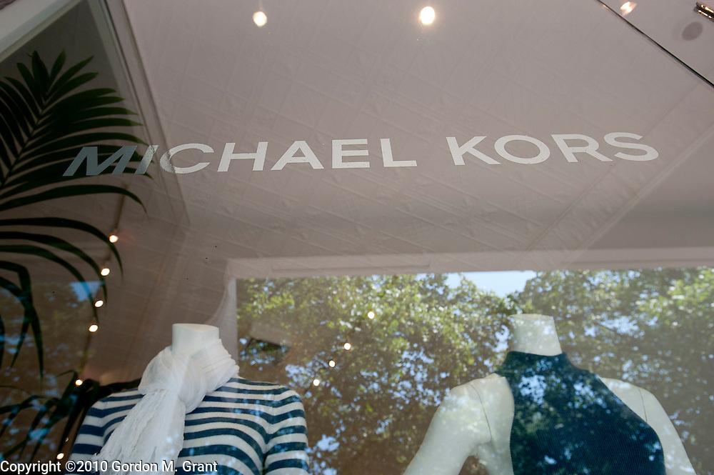 East Hampton, NY - 6/28/10 -   Exterior of the Michael Kors store at 48 Main Street in East Hampton, NY June 28, 2010.     (Photo by Gordon M. Grant)