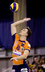 Veljko Petkovic (10) of ACH at volleyball match of CEV Indesit Champions League Men 2009/2010 between ACH Volley Bled (SLO) and Istanbul Buyuksehir BLD (TUR), on December 9, 2009 in Arena Tivoli, Ljubljana, Slovenia. (Photo by Vid Ponikvar / Sportida)
