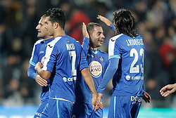 26.11.2011, Stadion Coliseum Alfonso Perez, Getafe, ESP, Primera Division, FC Getafe vs FC Barcelona, 14. Spieltag, im Bild Getafe's players celebrate // during the football match of spanish 'primera divison' league, 14th round, between FC Getafe and FC Barcelona at Coliseum Alfonso Perez stadium, Getafe, Spain on 2011/11/26. EXPA Pictures © 2011, PhotoCredit: EXPA/ Alterphotos/ Alvaro Hernandez..***** ATTENTION - OUT OF ESP and SUI *****