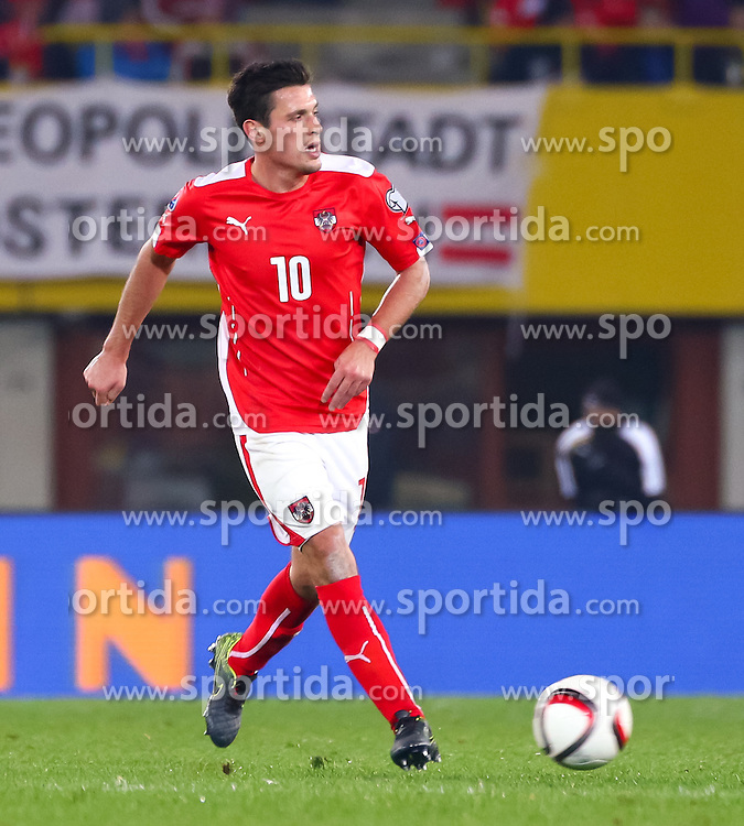 12.10.2015, Ernst Happel Stadion, Wien, AUT, UEFA Euro 2016 Qualifikation, Österreich vs Liechtenstein, Gruppe G, im Bild Zlatko Junuzovic (AUT) // the UEFA EURO 2016 qualifier group G match between Austria and Liechtenstein at the Ernst Happel Stadion, Vienna, Austria on 2015/10/12. EXPA Pictures © 2015 PhotoCredit: EXPA/ Sebastian Pucher