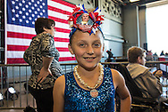 Cassie Jeffery, 8,from f Bluff Creek, LA ,at a campaign rally in New Orleans for Republican presidential candidate Donald Trump. The New Orleans rally on Friday, March 4, 2016 at Lakefront Airport took place a day before the primary vote.<br /> The New Orleans rally on Friday, March 4, 2016 at Lakefront Airport took place a day before the primary vote.