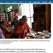 "Screengrab of ""Burma radical buddhist monk"" published in Expresso"