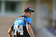 Mitchell Santner during the Natwest T20 Blast North Group match between Nottinghamshire County Cricket Club and Worcestershire County Cricket Club at Trent Bridge, West Bridgford, United Kingdom on 26 July 2017. Photo by Simon Trafford.