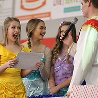 After completeing a Disney themed game of Family Fued Alaina Gass, 14, finds out that her wish of a Disney Cruise has been granted Wednesday at TCPS in Tupelo.