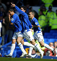 Fotball<br /> Premier League 2004/+5<br /> Everton v Crystal Palace<br /> 10. april 2005<br /> Foto: Digitalsport<br /> NORWAY ONLY<br /> Mikel Arteta celebrates scoring the first goal for Everton
