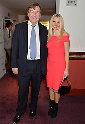 JOHN WHITTINGDALE and ANGELINA DOLEMKO at the Russian Ballet Icons Gala at The London Coliseum, 33-35 St.Martin's Lane, London on 9th March 2014.