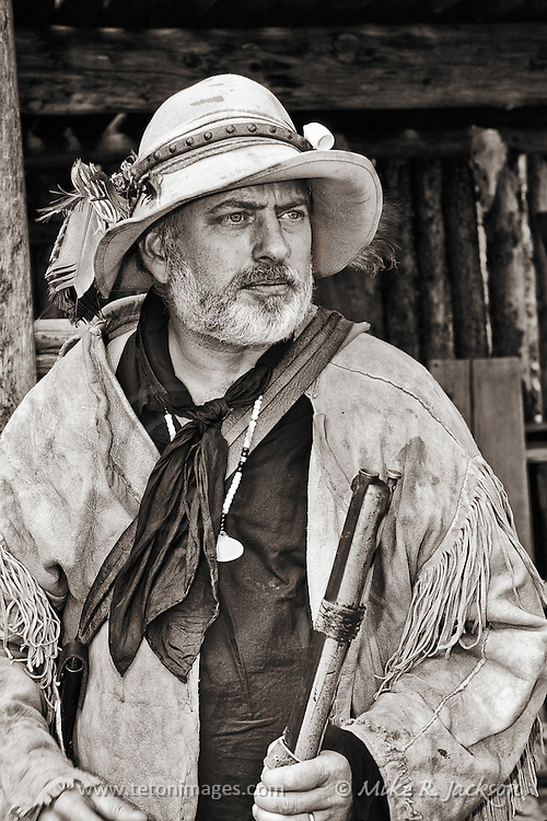 Trapper at Historic Fort Bridger.