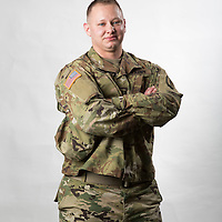 Jacob Eleazer, is a doctoral candidate in Counseling Psychology at the University of Louisville, a Captain the the Army National Guard, and a transgender man, pictured in Lexington, Ky., Thursday, August 25, 2016.
