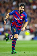 Barcelona forward Luis Suárez (9) during the Champions League semi-final leg 1 of 2 match between Barcelona and Liverpool at Camp Nou, Barcelona, Spain on 1 May 2019.
