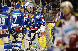 """11.03.2012, Dom Sportova, Zagreb, CRO, EBEL, KHL Medvescak Zagreb vs EC KAC, Playoff, Halbfinale, 3. Spiel, im Bild Robert Kristan. . during the semifinal Match of """"Erste Bank Icehockey League"""", third encounter between KHL Medvescak Zagreb and EC KAC at Dom Sportova, Zagreb, Croatia on 2012/03/11. EXPA Pictures © 2012, PhotoCredit: EXPA/ Pixsell/ Daniel Kasap..***** ATTENTION - for AUT only *****"""