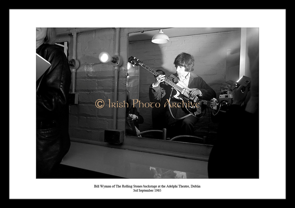 Bill Wyman of The Rolling Stones backstage at the Adelphi Theatre, Dublin<br /> 3rd September 1965