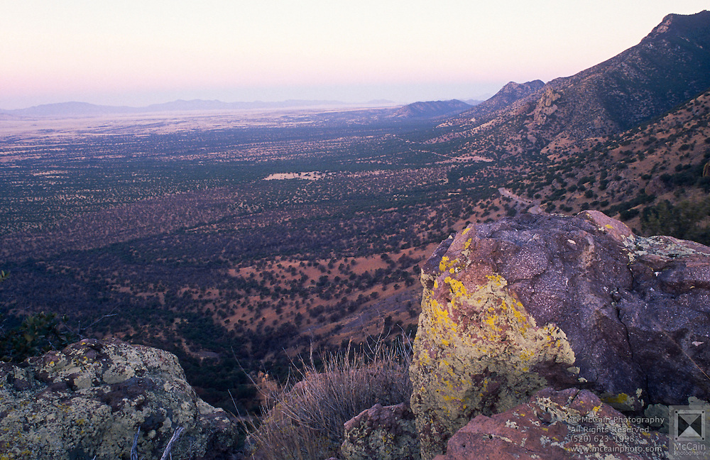 View looking west from mountains in Coronado National Monument near Sierra Vista, Arizona..Media Usage:.Subject photograph(s) are copyrighted Edward McCain. All rights are reserved except those specifically granted by McCain Photography in writing...McCain Photography.211 S 4th Avenue.Tucson, AZ 85701-2103.(520) 623-1998.mobile: (520) 990-0999.fax: (520) 623-1190.http://www.mccainphoto.com.edward@mccainphoto.com.