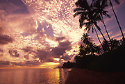 Sunset, Aina haina Beach, Honolulu, Oahu, Hawaii<br />