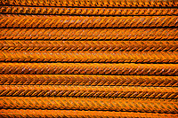 Ticino, Southern Switzerland. Close-up of rusty rebars.  Forms a lovely, colorful texture for backgrounds.