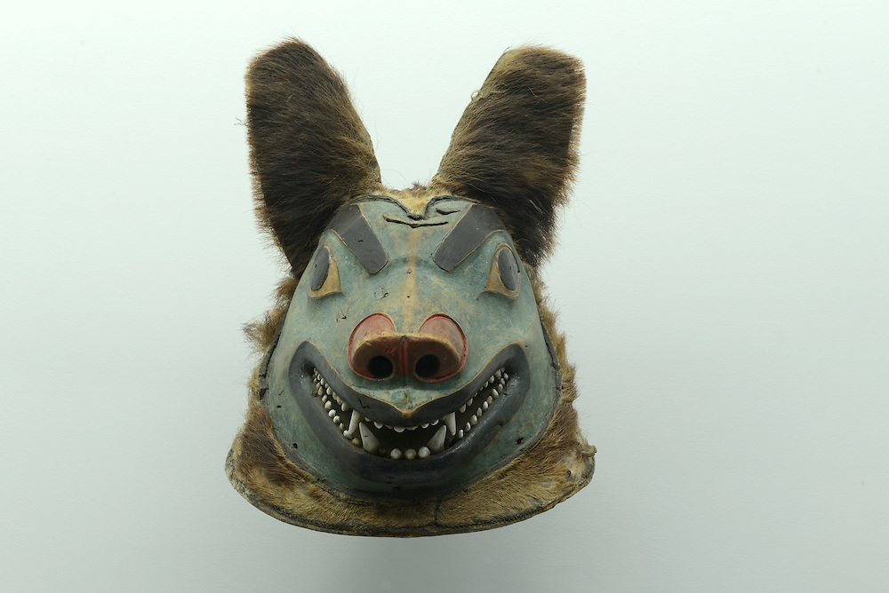 Tribal bear Mask, Pacific Northwest Indian culture,The Meril Collection,Houston, Texas,USA