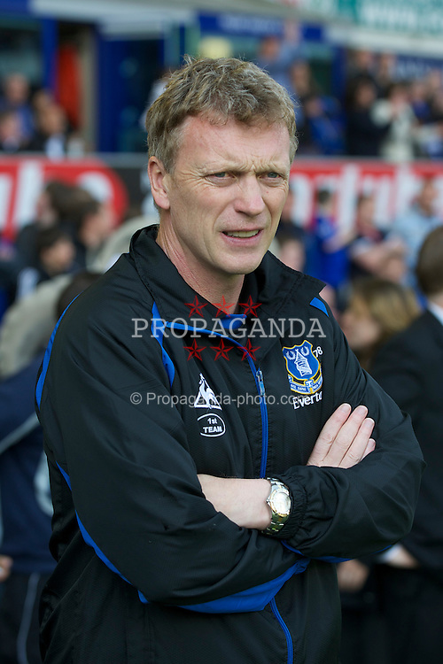 LIVERPOOL, ENGLAND - Saturday, May 7, 2011: Everton's manager David Moyes during the Premiership match against Manchester City at Goodison Park. (Photo by David Rawcliffe/Propaganda)