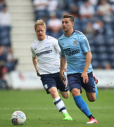 New Newcastle United signing Javier Manquillo (R) in action - Mandatory by-line: Jack Phillips/JMP - 22/07/2017 - FOOTBALL - Deepdale - Preston, England - Preston North End v Newcastle United - Pre-Season Club Friendly