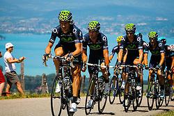 Cote de Puget, France - Tour de France :: Stage 20 - 20th July 2013 - Movistar leading the peloton