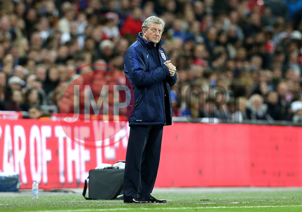 Roy Hodgson England Manager looks up - Mandatory by-line: Robbie Stephenson/JMP - 02/06/2016 - FOOTBALL - Wembley Stadium - London, United Kingdom - England v Portugal - International Friendly