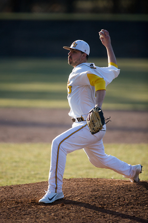 Rowan University Senior Right Handed Pitcher Jeff White (29) - Haverford College Baseball at Rowan University at Rowan University in Glassboro, NJ on Tuesday March 5, 2013. (photo / Mat Boyle)
