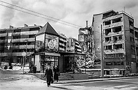 During the 1992-1995 war, Grbavica was occupied early by the Army of Republika Srpska and remained under Serb control throughout the siege. From the tall residential buildings, Serb snipers target the Sarajevo populace along Sniper Alley. The neighbourhood was heavily looted and destroyed.