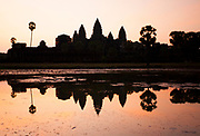 Sunrise at one of the most incredible religious sites on the planet - Angkor Wat.