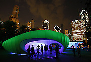 Architect Zaha Hadid's pavilion opens to the public on Tuesday, August 4, 2009 as part of the centennial celebration of Daniel Burnham's 1909 Plan of Chicago in Millennium Park. (Brian Cassella/Chicago Tribune)