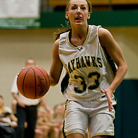 Jamestown Community College's Nikole Lindstrom during basketball action 12-2-11 Photo by Mark L. Anderson
