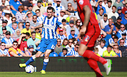 Brighton player Jamie Murphy during the Sky Bet Championship match between Brighton and Hove Albion and Blackburn Rovers at the American Express Community Stadium, Brighton and Hove, England on 22 August 2015. Photo by Bennett Dean.