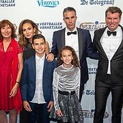 NLD/Hilversum/20190902 - Voetballer van het jaar gala 2019, Robin van Persie, partner Bouchra en kinderen Shaqueel, Dina Layla en familie