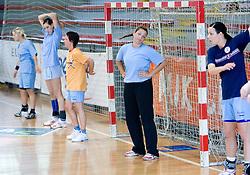 Branka Zec and Anja Argenti at practice of Slovenian Handball Women National Team, on June 3, 2009, in Arena Kodeljevo, Ljubljana, Slovenia. (Photo by Vid Ponikvar / Sportida)