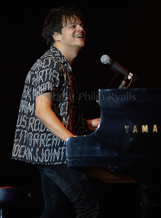 OXFORDSHIRE, UK - JULY 08: Jamie Cullum performs on stage at The Cornbury Music Festival on July 8th, 2016 in Oxfordshire, United Kingdom. (Photo by Philip Ryalls)**Jamie Cullum