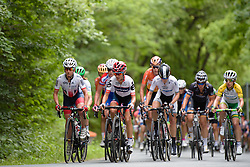 Emma Pooley and Ashleigh Moolman Pasio lead on the 12% climb at Thüringen Rundfarht 2016 - Stage 2 a 103km road race starting and finishing in Erfurt, Germany on 16th July 2016.