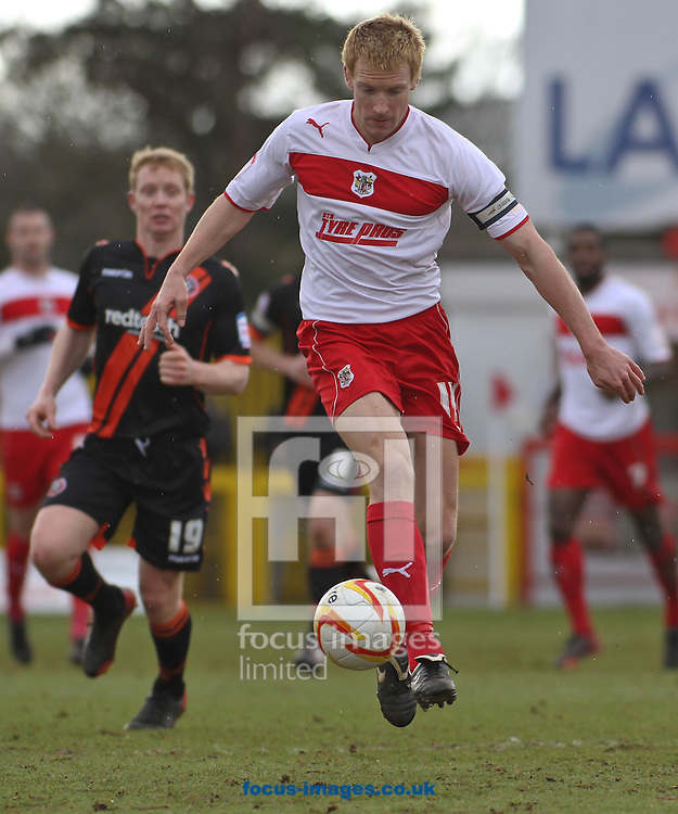 Picture by David Horn/Focus Images Ltd +44 7545 970036.16/03/2013.Mark Roberts, Captain of Stevenage during the npower League 1 match at the Lamex Stadium, Stevenage.